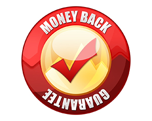 We offer a 100 percent money back guarantee